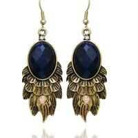 Fashion 2028 earrings vintage earrings 111116 earrings sea blue