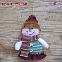 "6"" Christmas Ornaments Santa Tree Ornament X'mas Decoration Gifts Snowman Design Handmade FREESHIPPING"