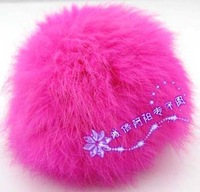 Fashion oversized rabbit fur ball 9 mobile phone pendant mobile phone chain keychain