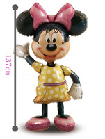 Party  sale promotion decoration Large carton MINNIEmouse aluminum foil balloons 137cm height