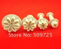 """LASION"" New 4pcs Daisy Plunger Cutter Cake Decoration Cake Tools #2026"