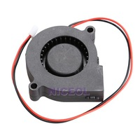 NI5L Black Brushless DC Cooling Blower Fan 2 Wires 5015S 12V 0.14A 50x15mm