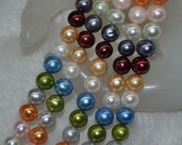 Lots 10Strs A 7 8mm Luster Multil Round Freshwater Pearls 9036