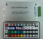 RGB LED Strip Controller Box , 44key IR Remote Controller , Power 288W,5V/12V/24V