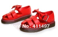 European Brand Imitation Genuine Leather Flatform Sandals,Genuine Leather Sandals with bowtie