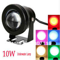 Free shipping,hot sale 2013 New 12V 10 W LED underwater light,1000LM Waterproof IP68 Flood Lamp With Convex Glass Lenses