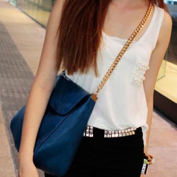 2013 fashion vintage bag mali anna chain bag picture big bags electric light blue