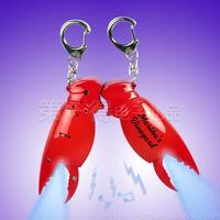 led key light keychains car ring Bs-056 crab legs vocalization keychain led lighting vocalization luminous