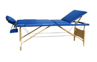 portable 3-section wooden folding massage table