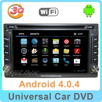 2013 New HD LCD Android 4.0 Double 2 Din Car DVD Player Stereo Radio head Deck GPS Navigation Cpu 1GHZ 3G + Free WIFI+ Free map