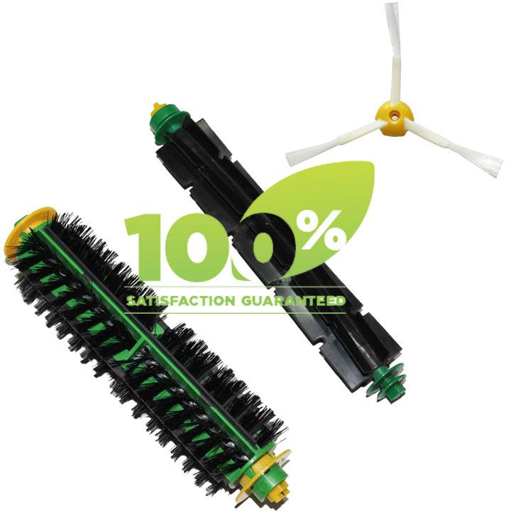 Replacement Brush for iRobot Roomba 500 510 530 550 560 580 Cleaner Bristle Brush and Flexible Beater Brush(China (Mainland))