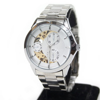 Silver translucent brief mens watch fully-automatic male watch fully-automatic mechanical watch