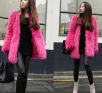 free shipping Fashion faux fur coat fur overcoat women's fur coat medium-long