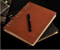 vintage leather journals notebooks binder spiral stationary Business Essentials kraft paper spiral notebook spiral Free shipping