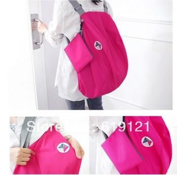 free shipping  300pcs/lot factory price Iconic multifunctional folding storage bag shoulder bag backpack