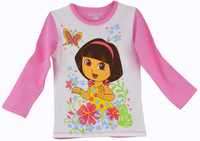 Children's clothing winter cotton 100% children's clothing long-sleeve T-shirt children's fashion clothing basic shirt clothes