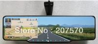 Android system car Rearview Mirror 5 Inch HD GPS Navigator+ Bluetooth headset+AV+DVR