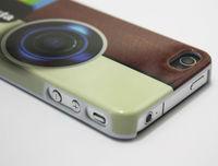 100pcs/lot Insta Instagram Camera Hard Plastic Cover Case for iPhone 4 4S