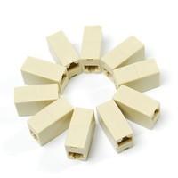 D19+20pcs/lot RJ45 Ethernet Net LAN Coupler Plug Adapter RJ-45