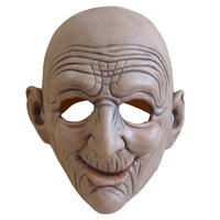Halloween Costume Party Funny Smiling Old Man Latex Mask