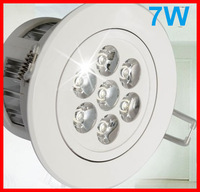 Wholesale,7W led downlight,light for ceiling dimmable,modern indoor lamp, 2 years warranty 10pcs/lot