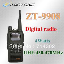 2013  new launch Zastone ZT-9908 digital walkie talkie  UHF digital handheld radio hongkong post free shipping