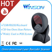 Hot Product Portable WAL-1000 Omni-directional 1D Laser Barcode UPC bar code Reader Scanner data collector  RS232
