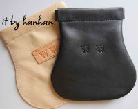 Genuine leather spring bags handmade coin purse
