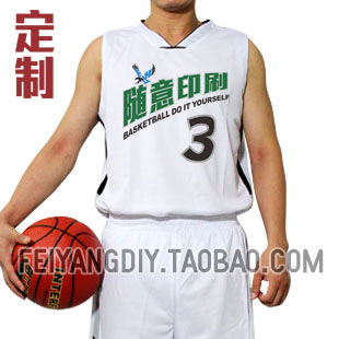 White basketball competition clothing customize pattern diy basketball clothes basketball clothing set