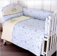 Baby 100% cotton bedding heavly blue pattern kit outerwear unpick and wash