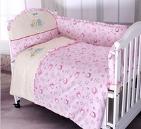 Baby bedding kit heavly 100% powder pattern cotton natural cotton