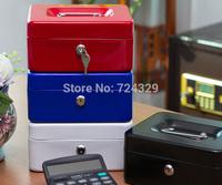 1PC Metal Cash Box Storage Box Safety Secret Money Case Lock-Up Valuables With 2 Keys(M) 20x16x9CM free shipping