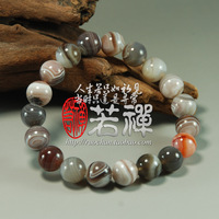 Natural multicolored silk agate bracelets bracelet 10mm all-match bracelet