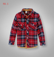 2013 Free Shipping Kids Spring&Autumn flannel Classic Plaid shirts boys casual shirts full sleeves shirts