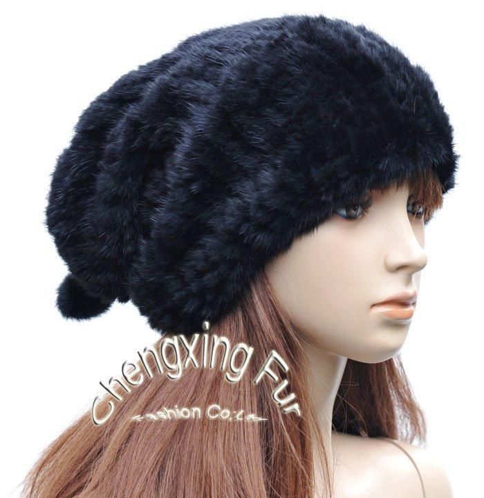 CX-C-60 Genuine Mink Fur Hat Snood~Hat Manufacturer(China (Mainland))