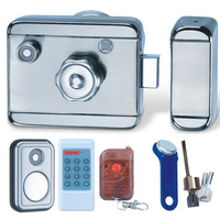 card eletronic door lock with remote control and wireless alarm