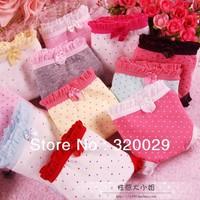 free shipping 5pcs/Lot Bowknot cute cartoon underwear women cotton ladies' briefs