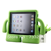 2013 New Arrival Cute 1Pcs SpongeBob Drop Resistance Portable Soft Rubber Cover Case For Apple New iPad 3 iPad 2  Green color
