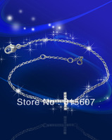 HMAB50167 silver cross bracelet sideways infinity bracelets charm bangle