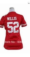 Women  Patrick Willis 52  American football Jersey,Cheap Sports Jersey,Embroidery logos,Mix order