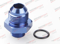 -10 AN 10AN Male Flare To -16 AN Straight Cut O-Ring Fitting AD46013 blue