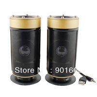 4W USB 2.0 Stereo Multimedia Speakers for Desktop PC Subwoofer (Golden)