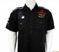 C004567 F1 automobile  race motorcade car Team racing clothing short-sleeve shirt T-shirt cotta T-shirts
