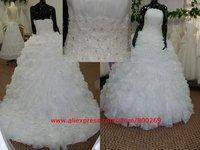 White wedding dress organza SL-3414