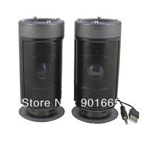 4W USB 2.0 Stereo Multimedia Speakers for Desktop PC Subwoofer (Black)