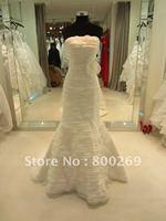2012 New Arrival Organza Mermaid Layer Bridal Gown/Wedding Dresses SL-4660