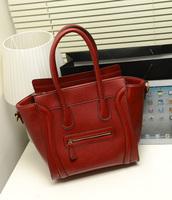 2013 fashion cartoon smiley bag Medium sewing thread women's brief fashion handbag