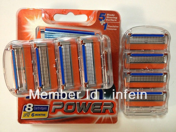 Original FP 8s Shaving razor blade for men (16pieces/lot) AAAA Quality Power blade for manual razors, Free Shipping
