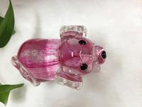 Glass products colored glaze decoration zodiac colored glaze dog