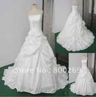 New Style Ball Gown Court Train Taffeta Ivory Wedding Dresses SL-5240